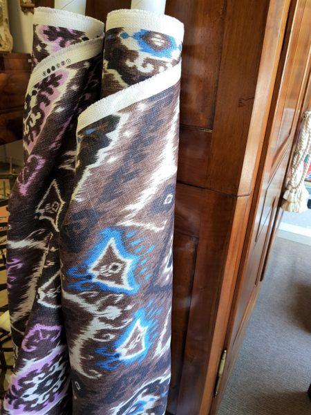 tessuto kilim puro lino tappezzeria stock