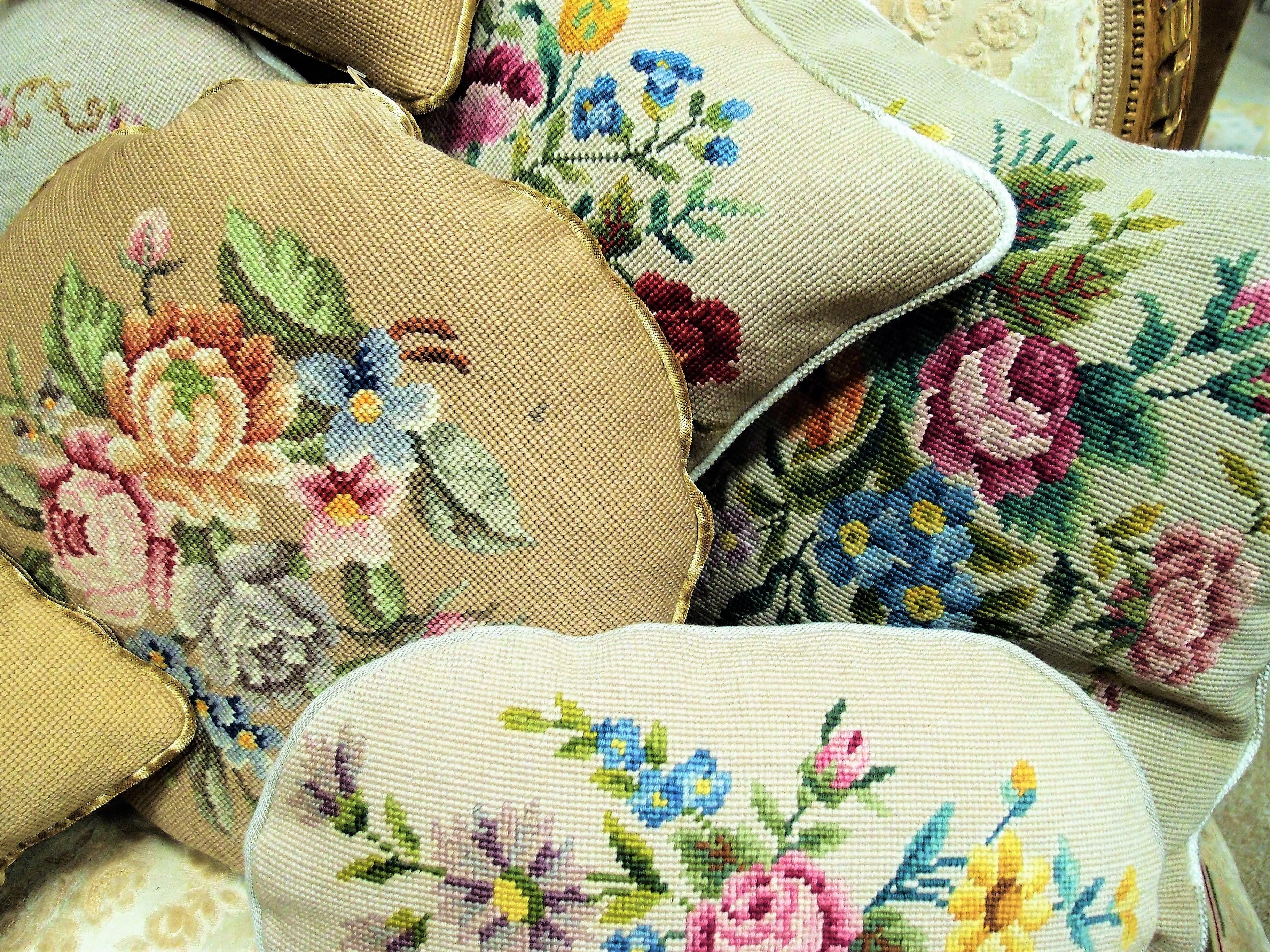 cuscini ricamati a mezzo punto sanotint light tabella colori