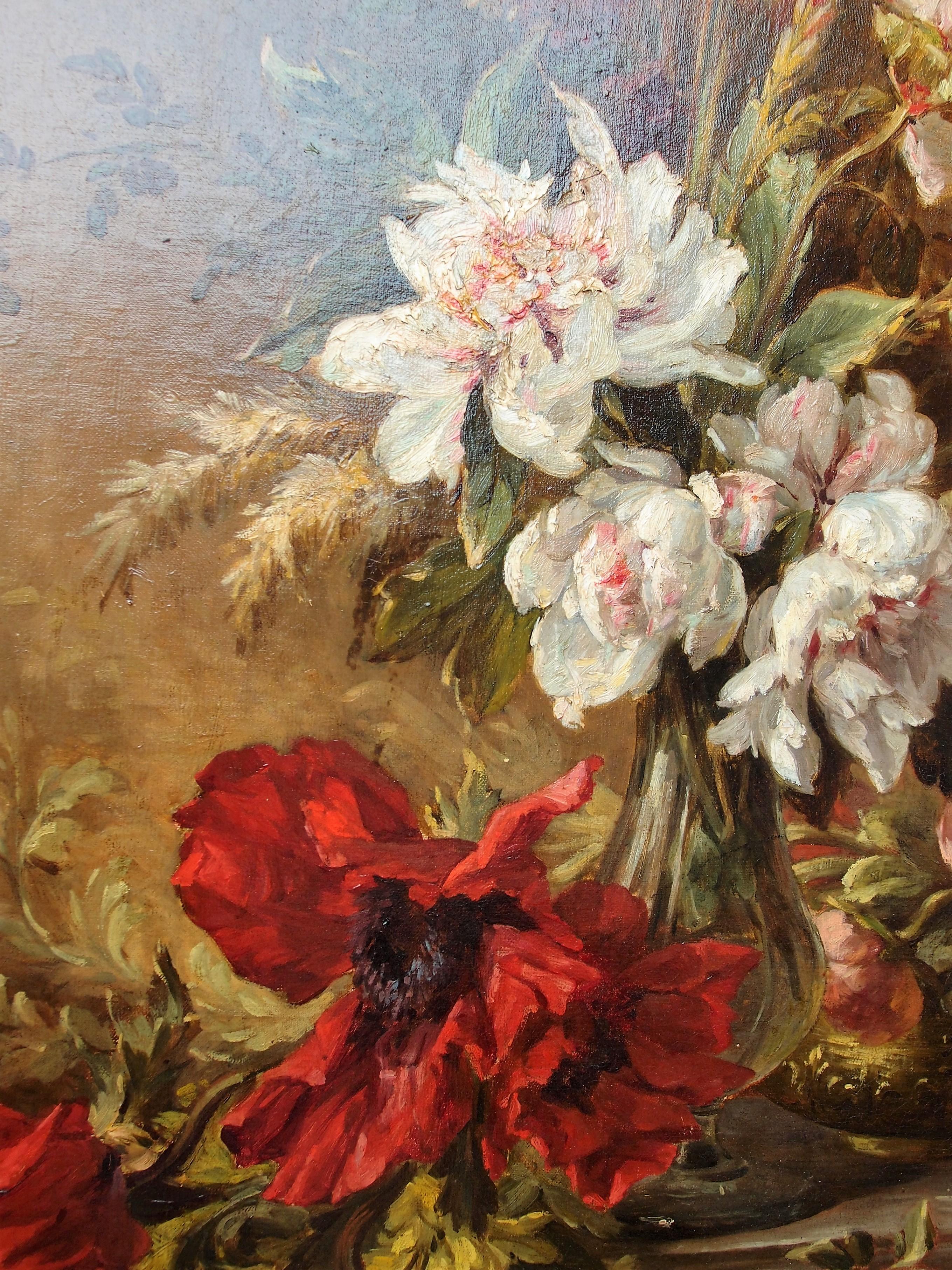 Risultati immagini per dipinti con fiori antichi
