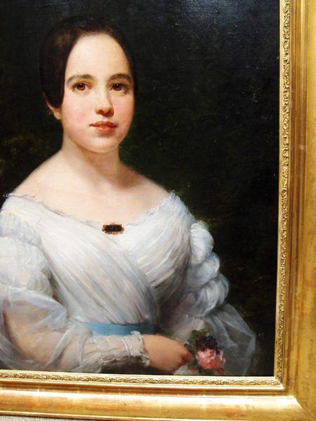 Il ritratto ad olio di questa bella mademoiselle francese, ? stato ...