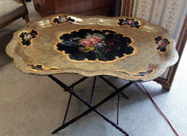 tavolo a vassoio antico