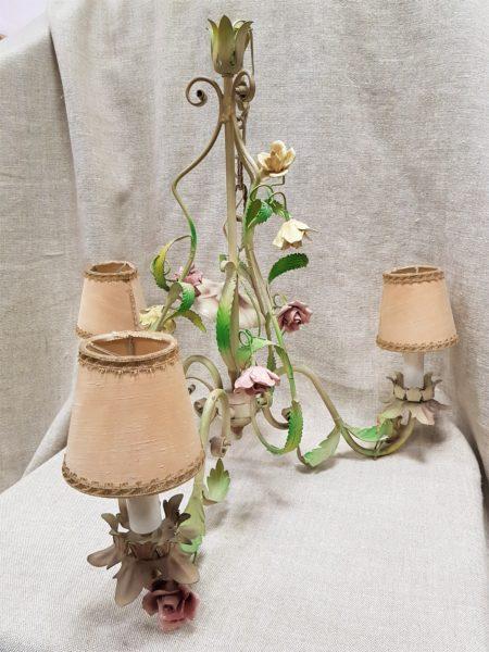 lampadario vintage rose