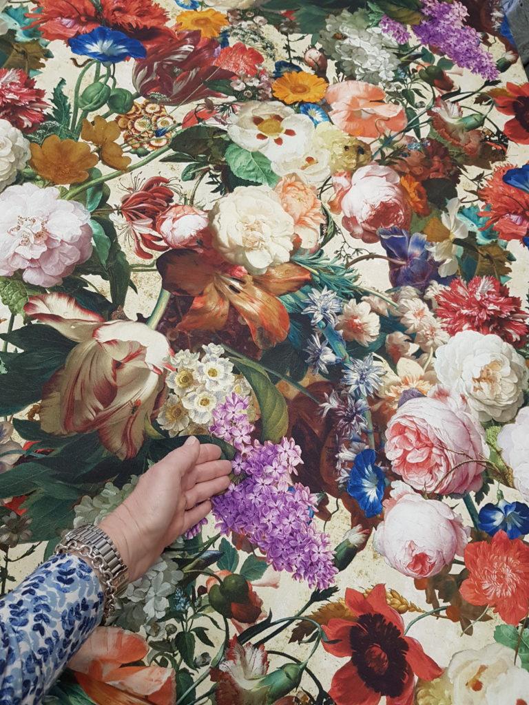 tessuto prezzi stock, prezzi ingrosso, tessuto prezzo basso, con fiori e rose fiamminghi